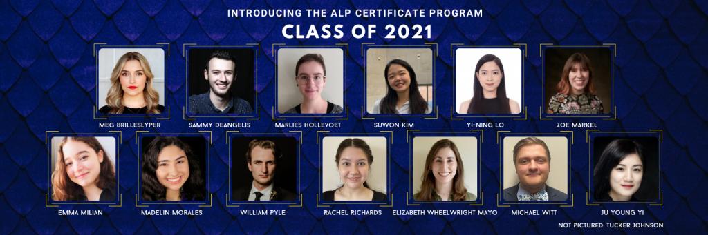 ALP Certificate Students 2021