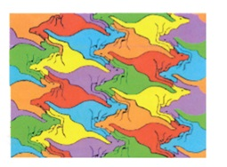 pre-test example: I see all different colored kangaroos. post-test example: They are symmetrical because the kangaroos are all the same size same shape and same measurement. The kangaroo picture is flip symmetry.